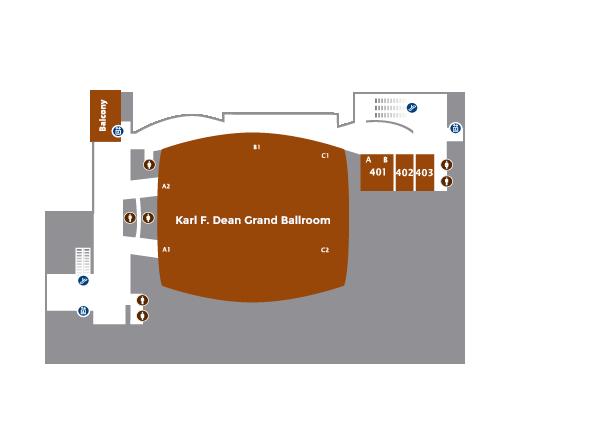 Level 4   Karl F. Dean Grand Ballroom
