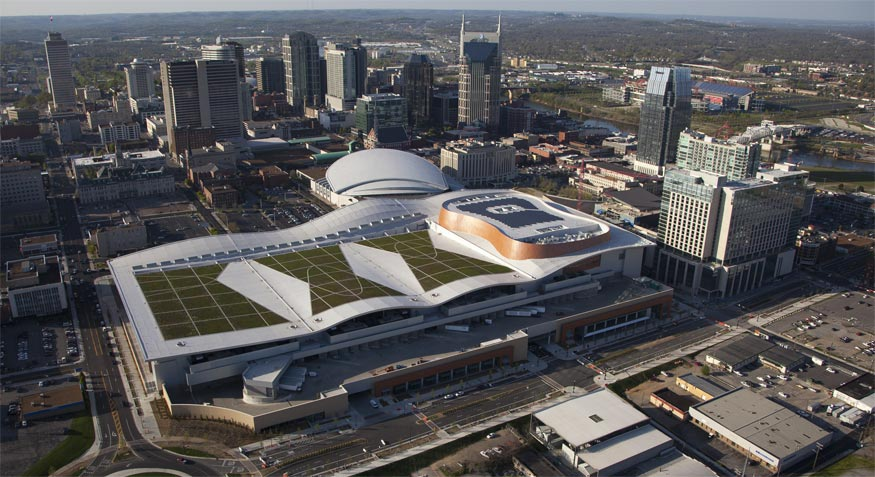 Nashville Music City Center Aerial Shot